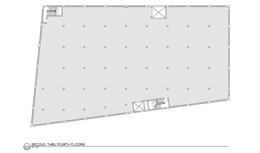 Second-Fourth Floor Plan